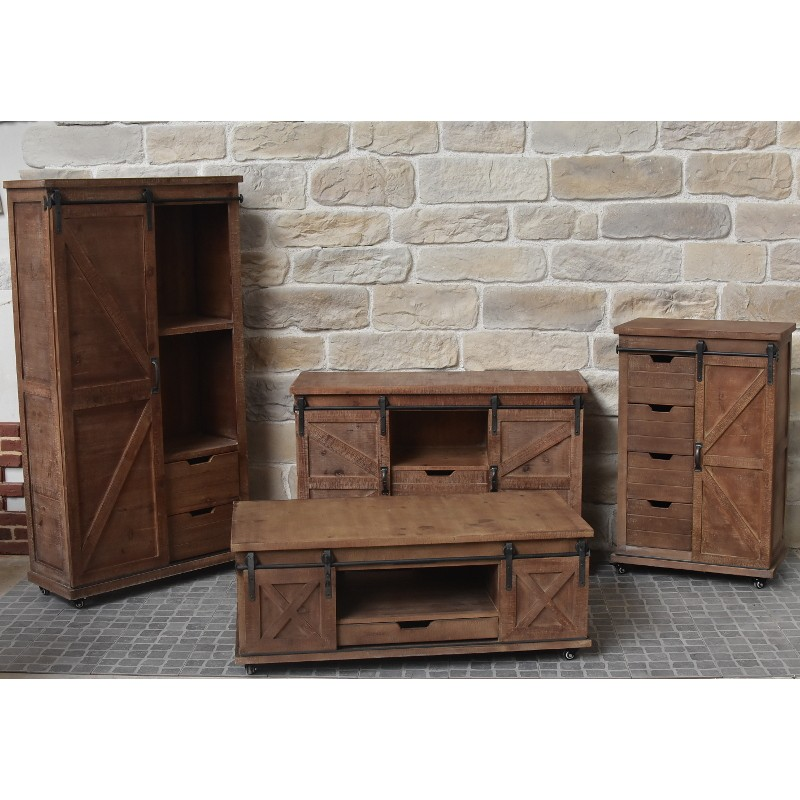 meuble table basse industriel campagne en bois et table basse. Black Bedroom Furniture Sets. Home Design Ideas
