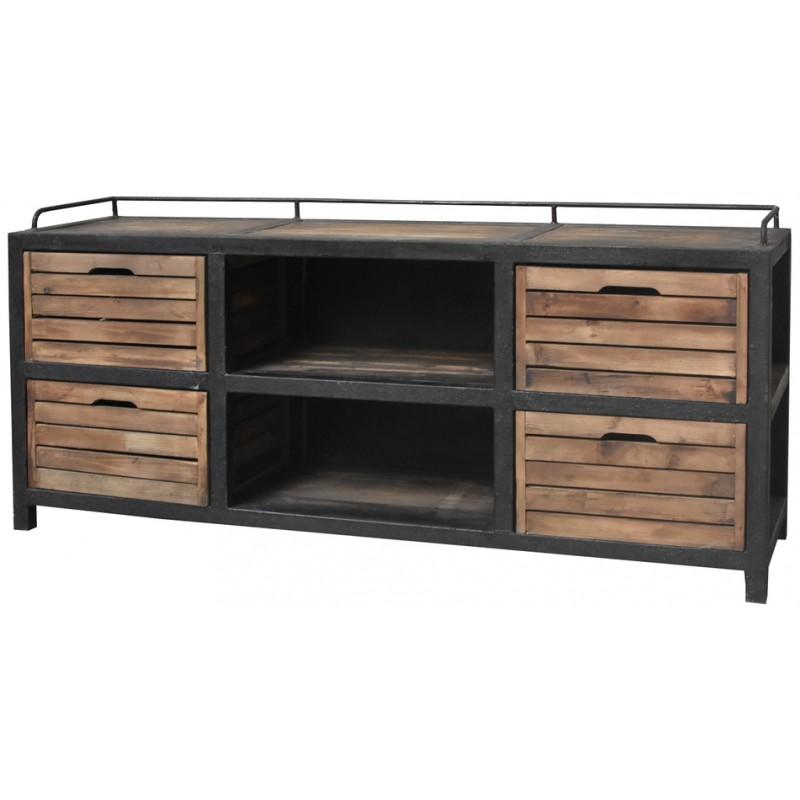 bahut enfilade tiroir casier de style campagne i meuble tv hi. Black Bedroom Furniture Sets. Home Design Ideas