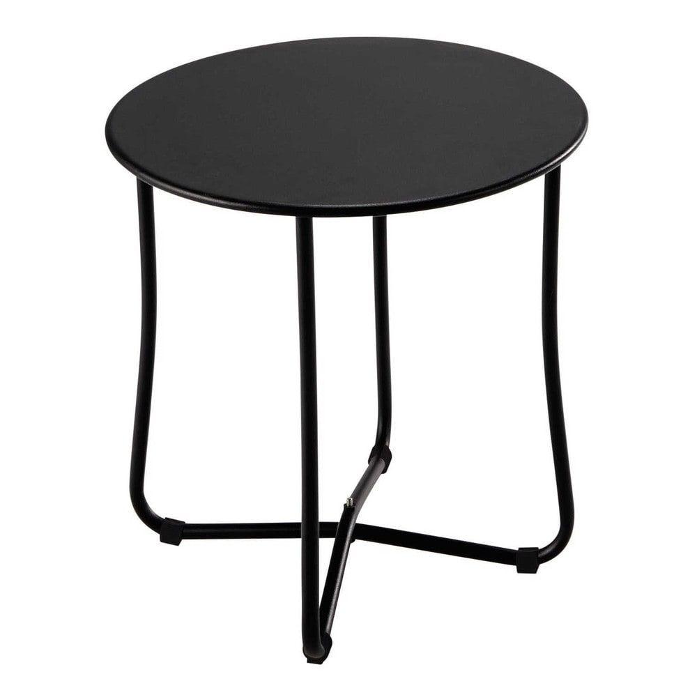 Table D Appoint Maison Du Monde.Bout De Canape De Jardin En Metal Noir D 45 Cm Capsuletable