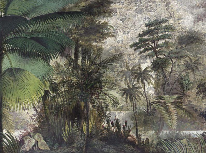 Les Sources De L Orenoque Papier Peint Panoramique Vert