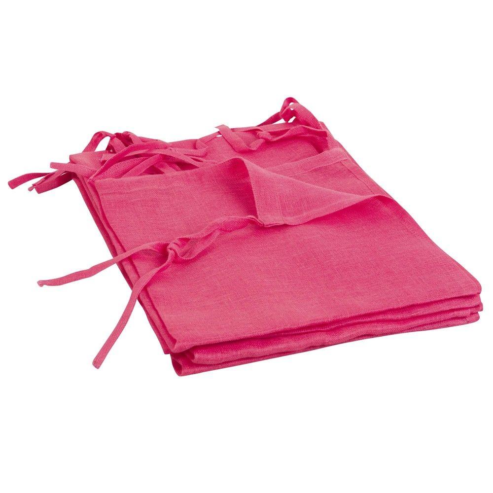 rideau voilage nouettes en lin rouge 105x300rideaux. Black Bedroom Furniture Sets. Home Design Ideas