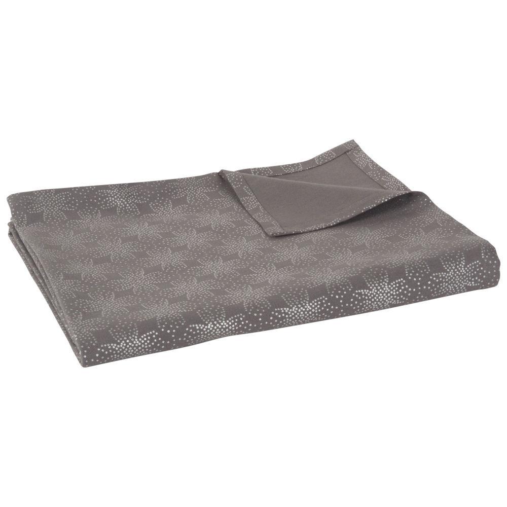 nappe en coton gris 150x250nappe rectangulaire gris. Black Bedroom Furniture Sets. Home Design Ideas