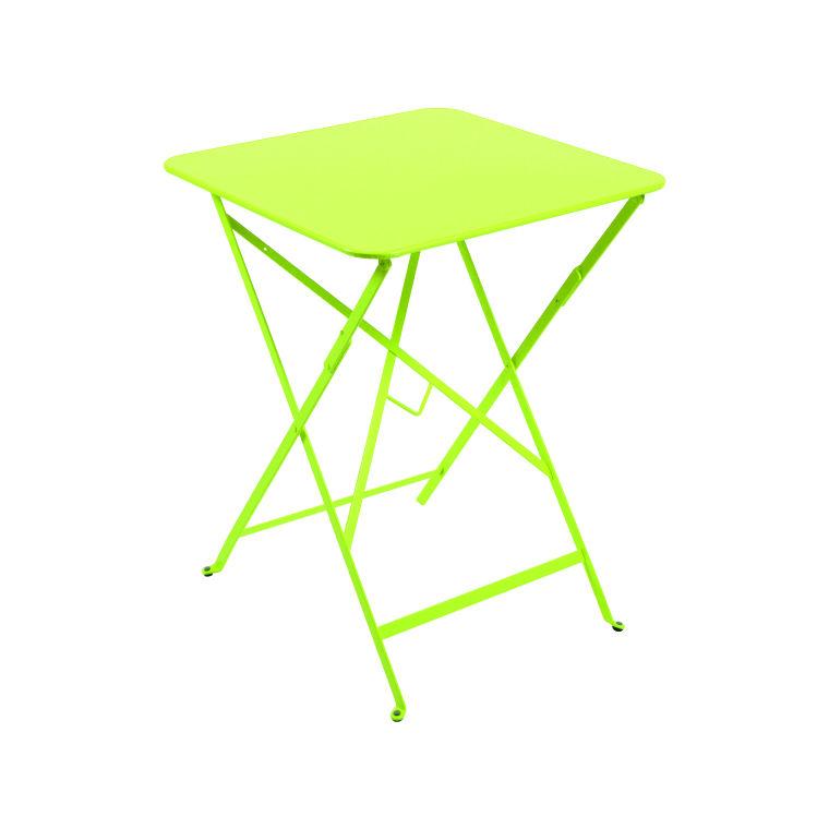 Table pliante carrée couleur verveine 57 x 57 x 74 cmTable de jardin ...