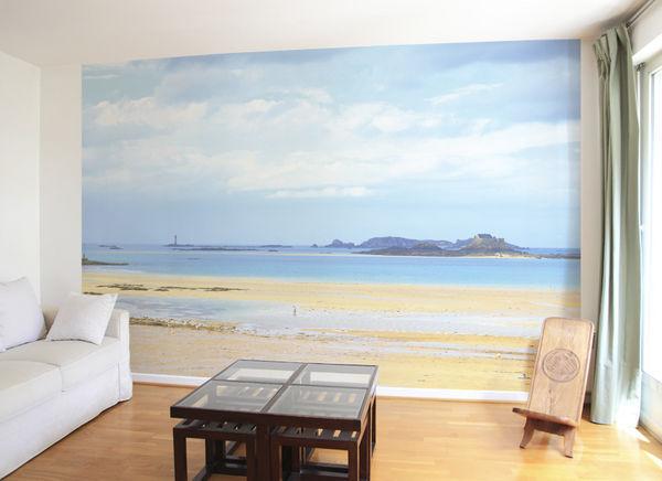 Ohmywall - Papier peint panoramique-Ohmywall-Papier peint Cézembre au loin