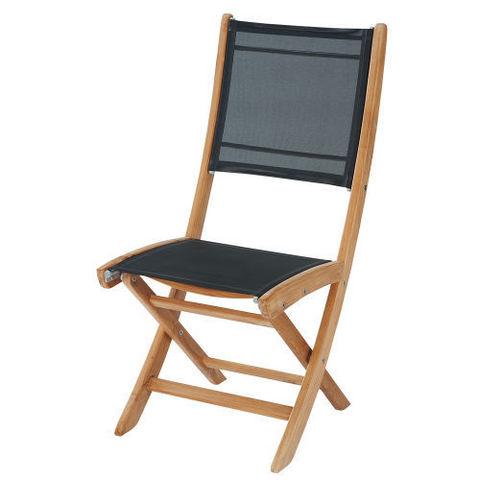 MAISONS DU MONDE - Chaise de jardin-MAISONS DU MONDE-Chaise noire Capri