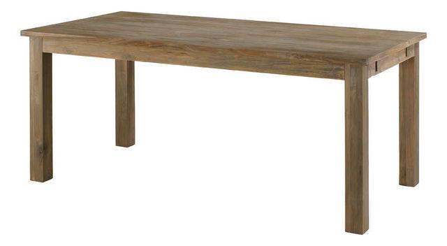 INWOOD - Table de repas rectangulaire-INWOOD-Table maestro en teck recyclé grisé avec allonges