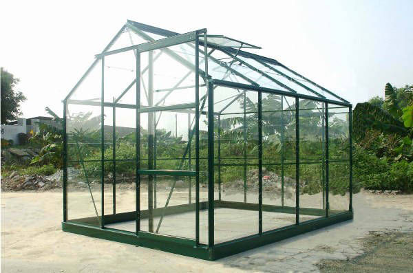 Chalet & Jardin - Serre-Chalet & Jardin-Serre avec base 4,65m² en verre trempé et aluminiu