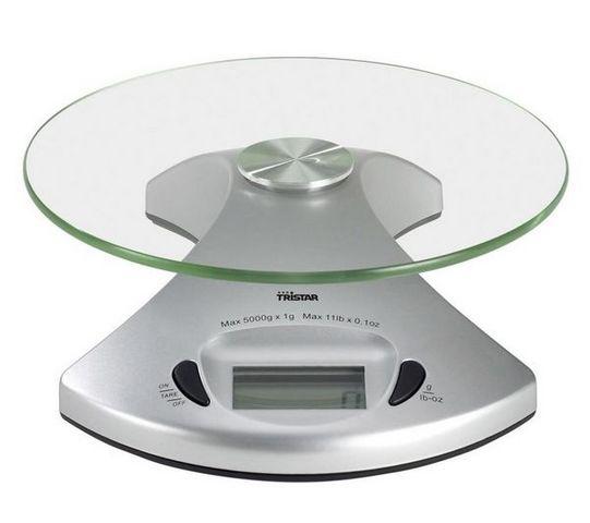 Tristar - Balance de cuisine électronique-Tristar-Balance de cuisine KW-2431 - argent