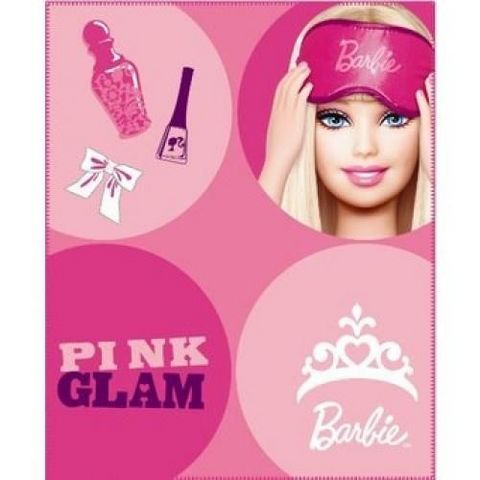 BARBIE - Plaid enfant-BARBIE-Plaid BARBIE Pop 130 x 160cm ROSE