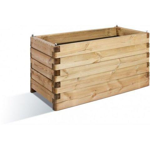 JARDIPOLYS - Bac à fleurs-JARDIPOLYS-Bac à fleur rectangulaire en bois 134 litres Jardi