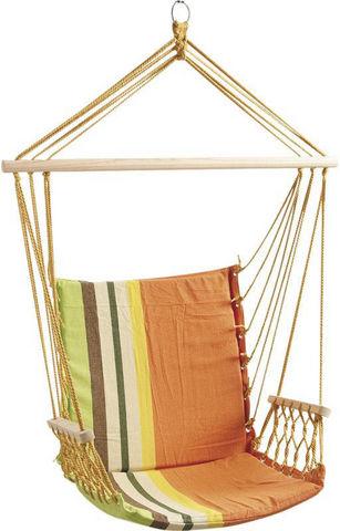 Aubry-Gaspard - Hamac chaise-Aubry-Gaspard-Fauteuil hamac naranja en coton et polyester 70x70