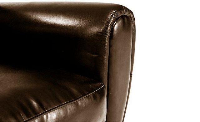 WHITE LABEL - Canapé club-WHITE LABEL-Canapé CLUB 2 places en cuir vachette marron brill