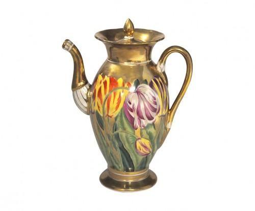 Demeure et Jardin - Cafetière-Demeure et Jardin-Cafetière  tulipes style empire