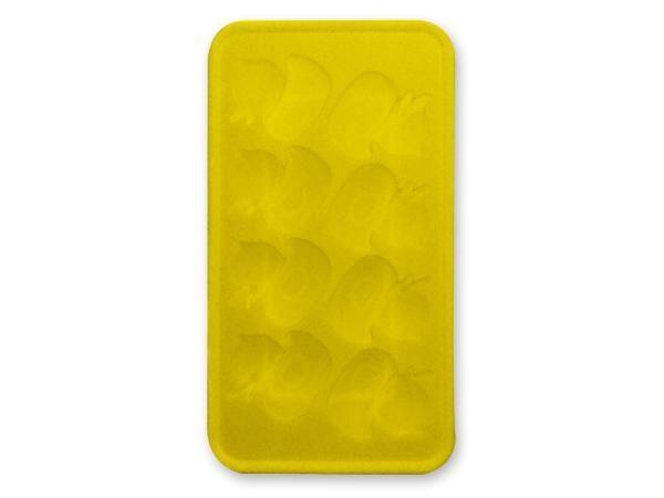 WHITE LABEL - Bac à glaçons-WHITE LABEL-Moule silicone pour 8 glacons canards bleu ou gate