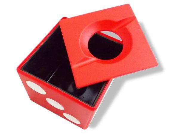 WHITE LABEL - Cendrier-WHITE LABEL-Cendrier dé à jouer noir accessoire fumeur mégot c