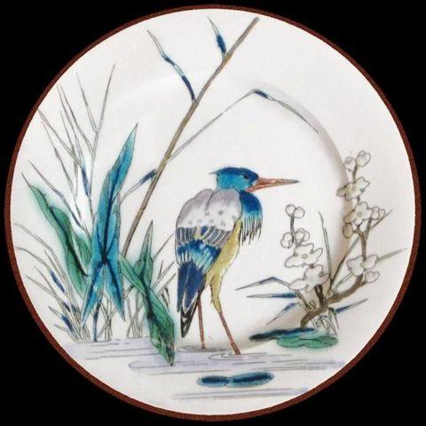 Au Bain Marie - Assiette décorative-Au Bain Marie-Assiette en tôle Vieillard Héron
