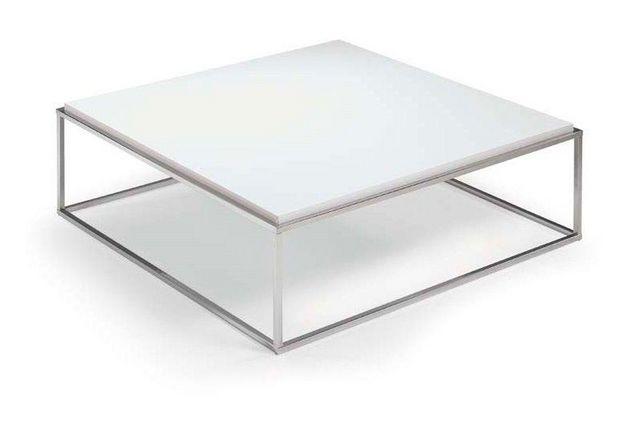 WHITE LABEL - Table basse carrée-WHITE LABEL-Table basse carré MIMI blanche