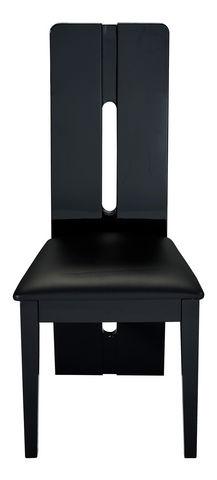 COMFORIUM - Chaise-COMFORIUM-Lot de 2 chaises design noires laquée
