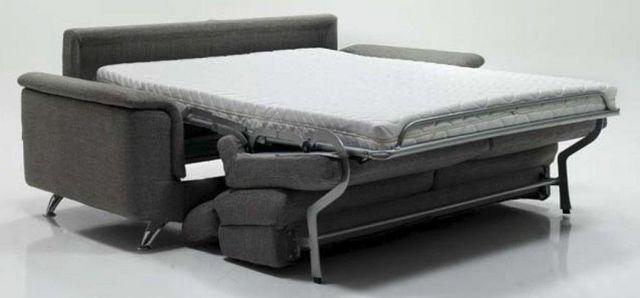 WHITE LABEL - Fauteuil-lit-WHITE LABEL-Fauteuil EMPIRE tweed gris convertible ouverture R