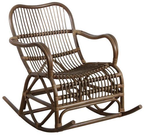 Aubry-Gaspard - Rocking chair-Aubry-Gaspard-Rocking-chair en rotin gris