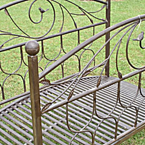 CHEMIN DE CAMPAGNE - Pont de jardin-CHEMIN DE CAMPAGNE-Pont Passerelle de Jardin Ruisseau Fer Métal 180 c