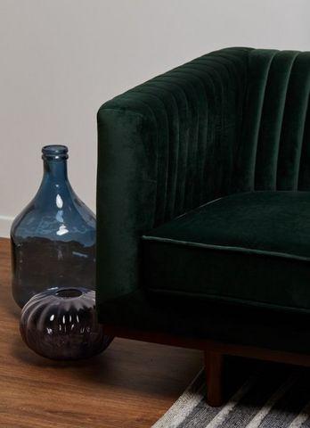 DECO PRIVE - Fauteuil-DECO PRIVE-Velours vert
