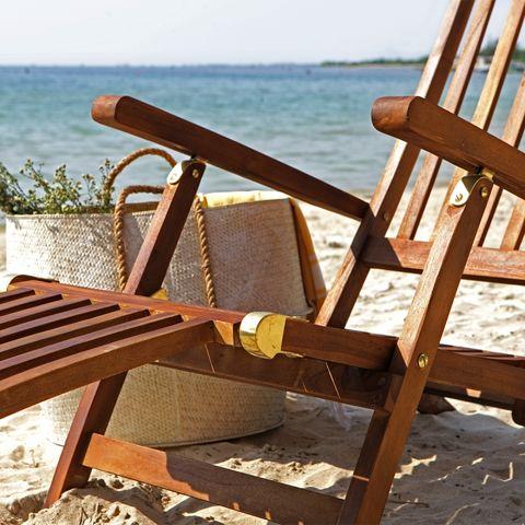 BOIS DESSUS BOIS DESSOUS - Chaise longue de jardin-BOIS DESSUS BOIS DESSOUS-Lot de 2 steamers en bois de teck huilé BALI