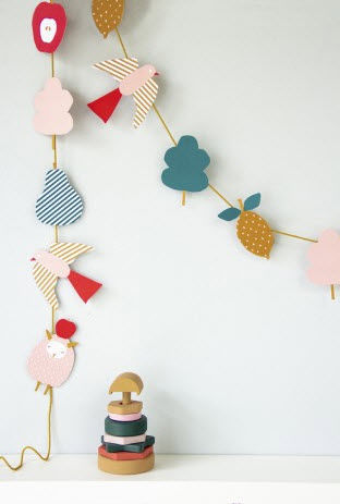 ENGEL - Guirlande enfant-ENGEL-Paper garland 'Sheep' DIY
