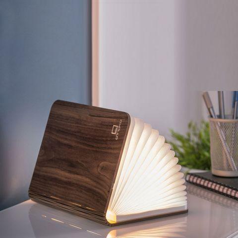 Gingko - Lampe à poser-Gingko-SMART BOOKLIGHT - lampe noyer 21 cm