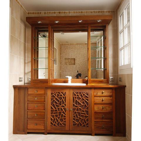 Matahati - Meuble de salle de bains-Matahati-Custom made MING bathroom cabinet