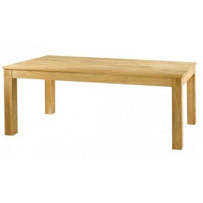 MEUBLES ZAGO - Table de repas rectangulaire-MEUBLES ZAGO-Table teck sabl� Cosmos 160 cm avec allonge