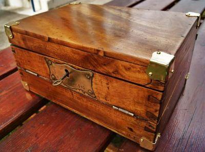La Timonerie Antiquités marine - Meuble écritoire-La Timonerie Antiquités marine