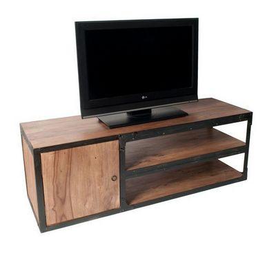 BELDEKO - Meuble tv hi fi-BELDEKO-Meuble TV bois et métal industriel