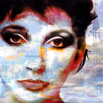 Magel'design - Portrait-Magel'design-Kate Bush 80x80 cm , 3D effet relief