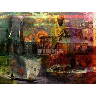 Magel'design - Tableau contemporain-Magel'design-Couleur du Mali 120x90 cm , 3D effet relief