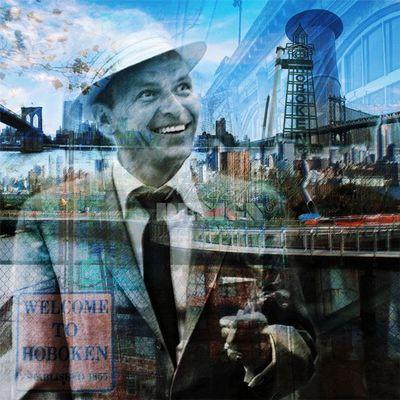 Magel'design - Portrait-Magel'design-F.Sinatra Legendary 120x120 cm , 3D effet relief