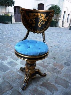 Art & Antiques - Chaise-Art & Antiques-Chaise de Harpiste Napoléon III