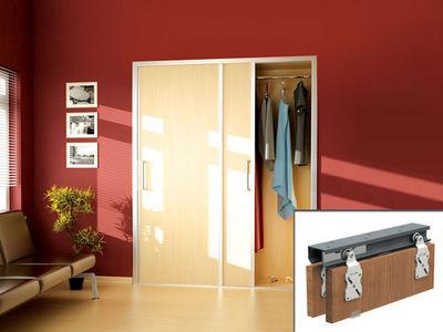 Wimove - Motorisation pour porte d'intérieur-Wimove-Ensemble HORUS pour portes de placard - rail 1,2 m