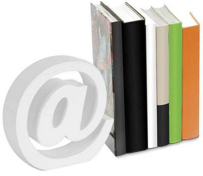 Balvi - Serre-livres-Balvi-Serre-livres arobase blanc en bois 18x18x5cm