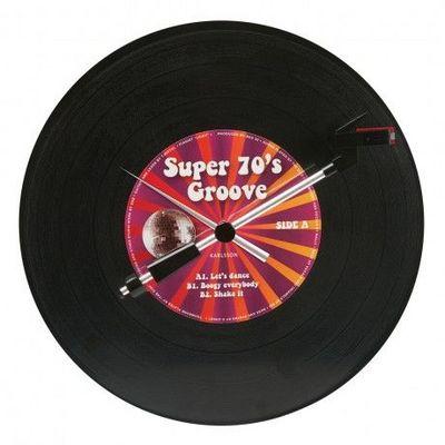 Karlsson Clocks - Horloge murale-Karlsson Clocks-Karlsson - Horloge Spinning Record Groovy 70's -