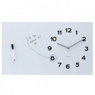Karlsson Clocks - Horloge de cuisine-Karlsson Clocks-Karlsson - Horloge White Board - Karlsson - Blanc
