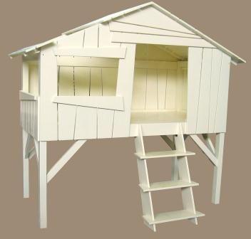 L'oiseau fait son nid - Lit cabane enfant-L'oiseau fait son nid