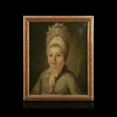 Expertissim - Portrait-Expertissim-ECOLE ALLEMANDE du XVIIIe siècle. Portrait d'enfa
