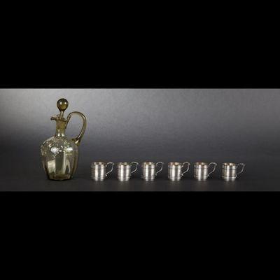 Expertissim - Canne-Expertissim-Service à liqueur et plateau de service en métal a
