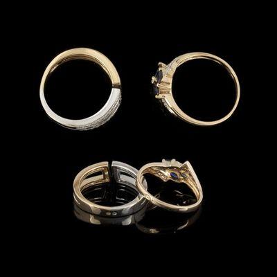 Expertissim - Bague-Expertissim-Deux bagues or, diamants et saphirs