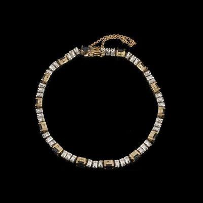 Expertissim - Bracelet-Expertissim-Bracelet articulé en or jaune, saphirs et diamants