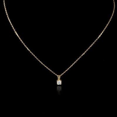 Expertissim - Pendentif-Expertissim-Pendentif en or orné d'un diamant et sa chaîne