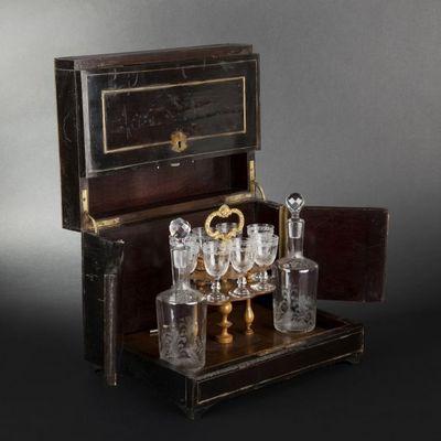 Expertissim - Cave à liqueur-Expertissim-Cave à liqueurs d'époque Napoléon III