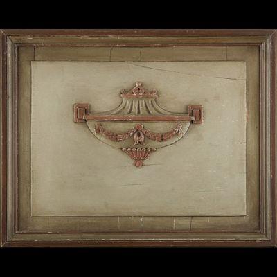 Expertissim - Trumeau-Expertissim-Trumeau à miroir en bois laqué de style Directoire