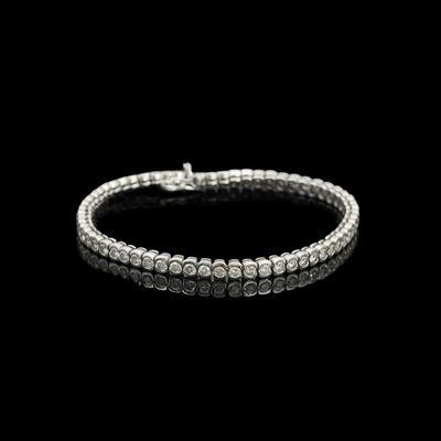 Expertissim - Bracelet-Expertissim-Bracelet rivière de diamants, env. 5 carats